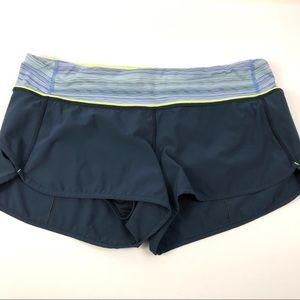 Lululemon Speed Up Short Navy Lime Size 8